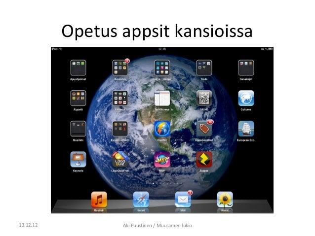 Opetus appsit kansioissa13.12.12          Aki Puustinen / Muuramen lukio