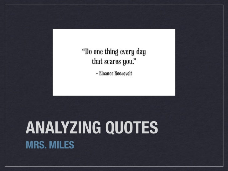 Analyzing Quotes Amazing Analyzing Quotes