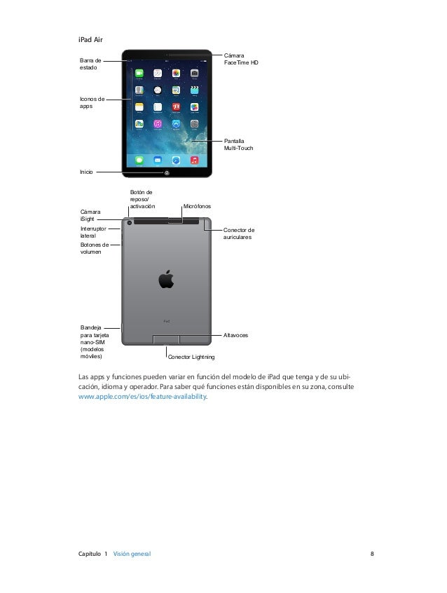 manual del usuario del ipad air online user manual u2022 rh pandadigital co manual del usuario del ipad air manual del usuario del ipad para ios 8.1