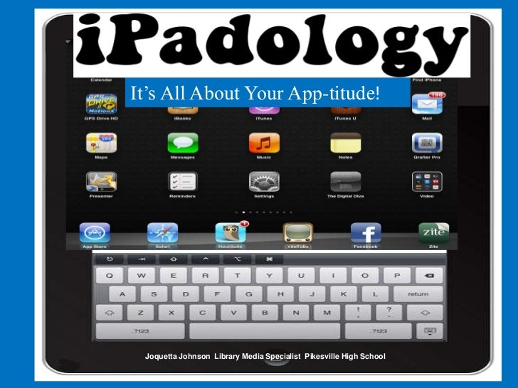 It's All About Your App-titude! Joquetta Johnson Library Media Specialist Pikesville High School