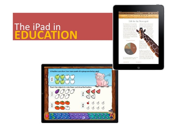 The iPad inEDUCATION