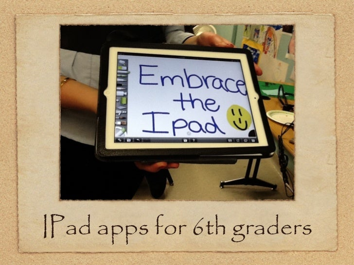 IPad apps for 6th graders