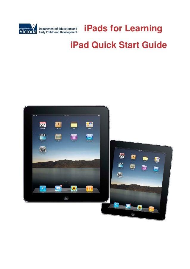 iPads for LearningiPad Quick Start Guide