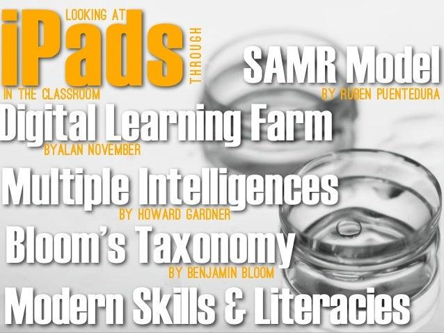 SAMR Modelby Ruben PuenteDura Digital Learning FarmByAlan November Multiple IntelligencesBy Howard Gardner Bloom's Taxonom...