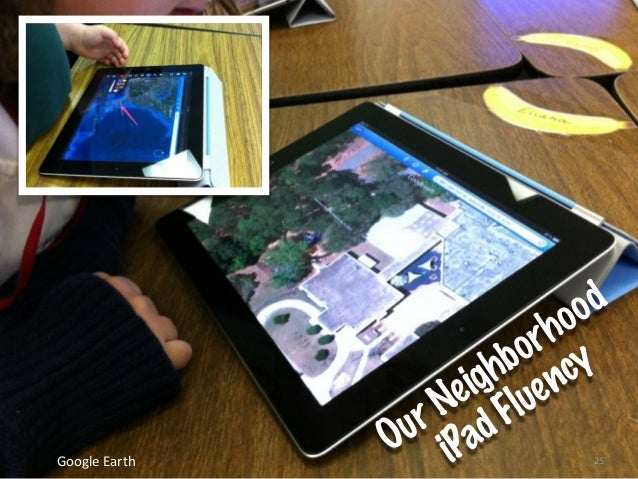 25Google  Earth Our Neighborhood iPad Fluency