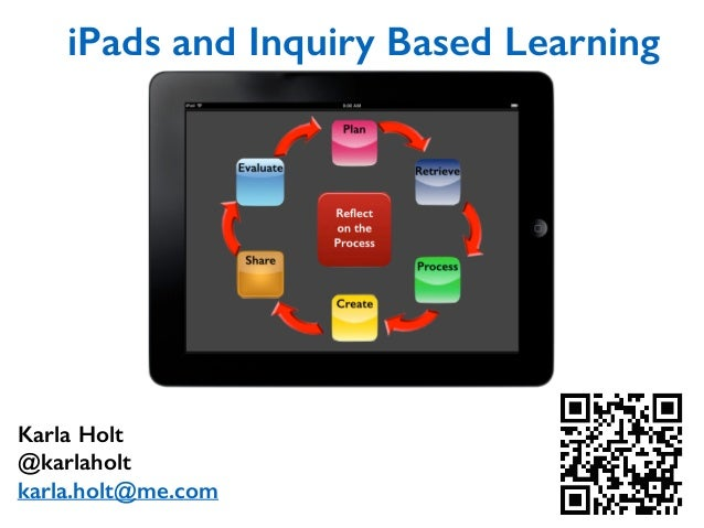 iPads and Inquiry Based Learning Karla Holt @karlaholt karla.holt@me.com