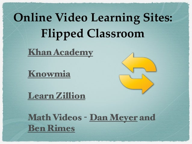 Khan Academy Knowmia Learn Zillion Math Videos - Dan Meyer and Ben Rimes Online Video Learning Sites: Flipped Classroom