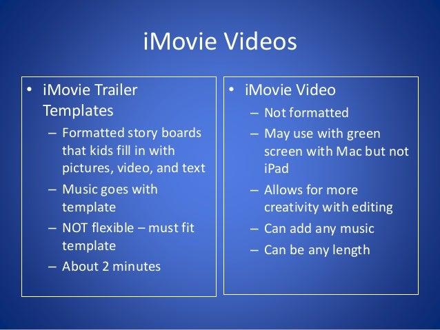 imovie videos imovie trailer templates