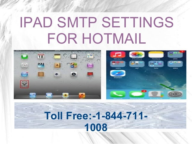 how to add hotmail account to ipad