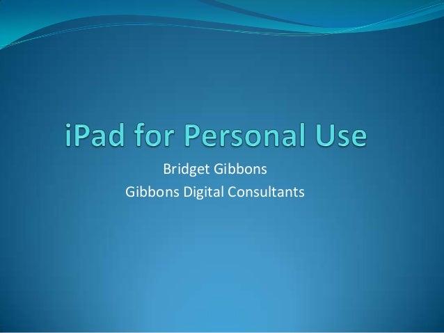 Bridget Gibbons Gibbons Digital Consultants
