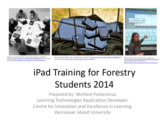 iPad Training for Forestry Students 2014 Welcome to iPad for Dummies | Flickr - Photo Sharing! : taken from - http://www.f...