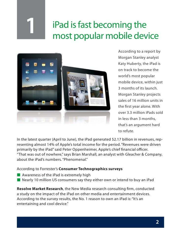 The Apple Ipad Trends And Statistics