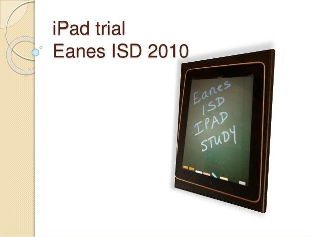 iPad trial Eanes ISD 2010