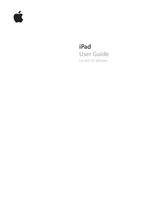 iPad User Guide For iOS 5.0 Software