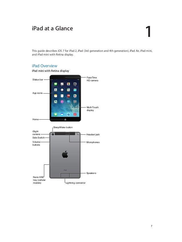 ipad user guide ios7 rh slideshare net ipad user guide ios 11 pdf ipad user guide ios 10 printable