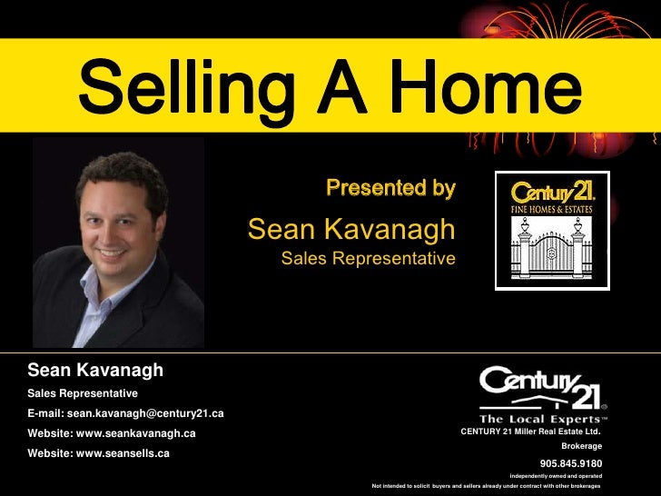 Selling A Home                                             Presented by                                       Sean Kavanag...