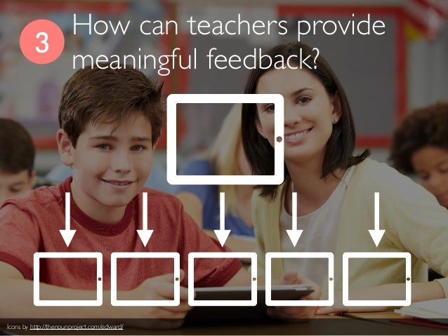 3 How can teachers provide meaningful feedback? Icons by http://thenounproject.com/edward/