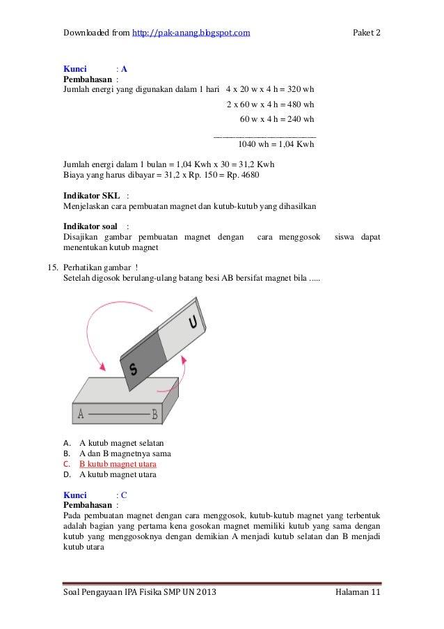 Ipa Fisika Smp Un 2013 Paket 2