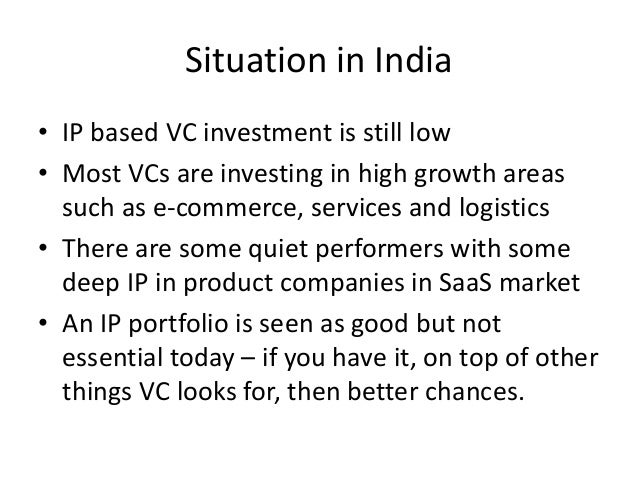 Ip and venture funding