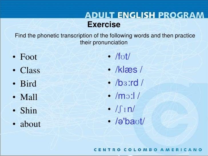 Ipa Pronunciation Session 1