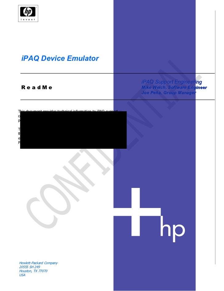I paq device emulator readme