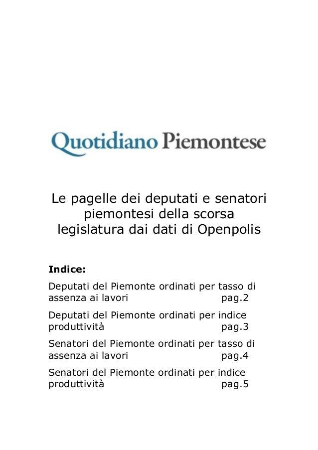 I parlamentari in piemonte for I parlamentari