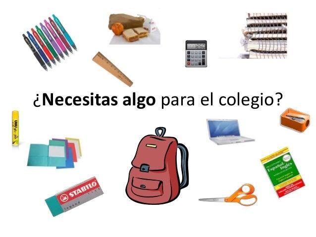 ¿Necesitas algo para el colegio?