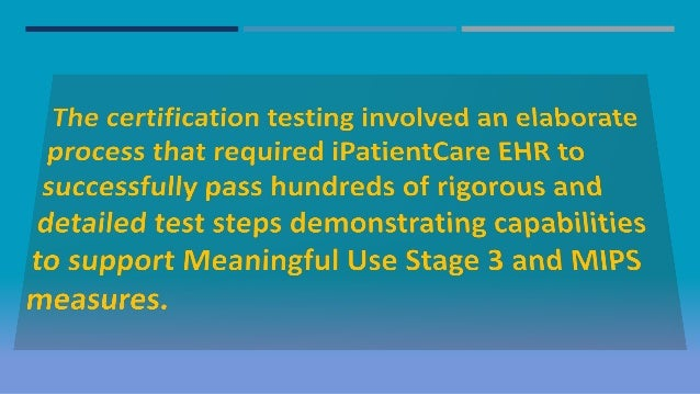 iPatientCare EHR Receives 2015 ONC Health IT Certification from Drumm…