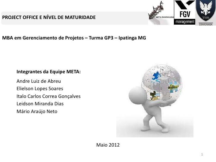 PROJECT OFFICE E NÍVEL DE MATURIDADEMBA em Gerenciamento de Projetos – Turma GP3 – Ipatinga MG     Integrantes da Equipe M...