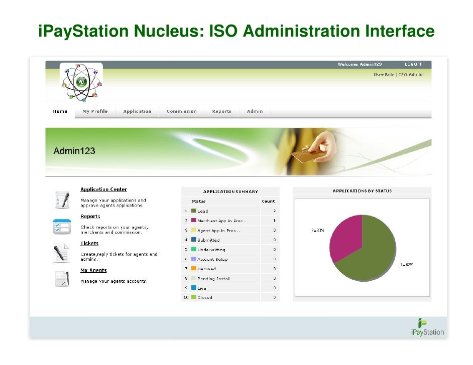 iPayStation Nucleus: ISO Administration Interface