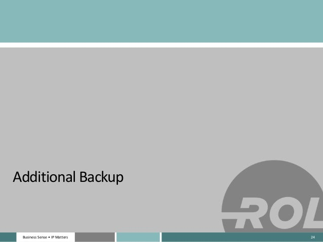 Business Sense • IP MattersBusiness Sense • IP Matters Additional Backup 24