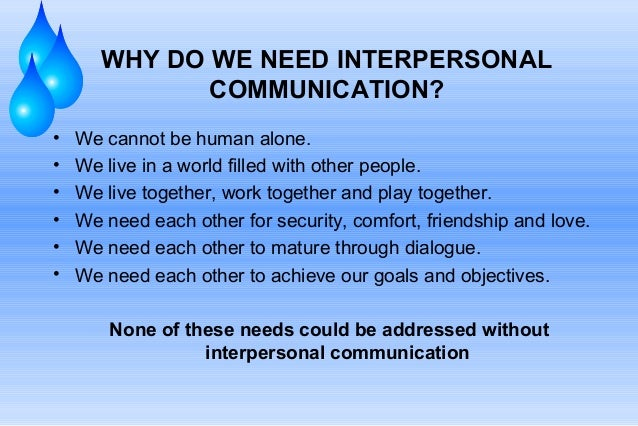 interpersonal communication Receiver Person