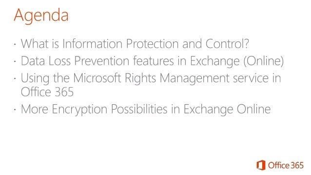 Office Track: Information Protection and Control in Exchange Online/On Premises - Ilse Van Criekinge Slide 2