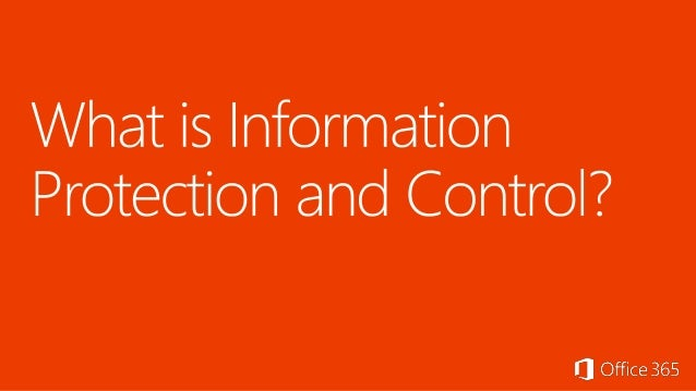 Office Track: Information Protection and Control in Exchange Online/On Premises - Ilse Van Criekinge Slide 3