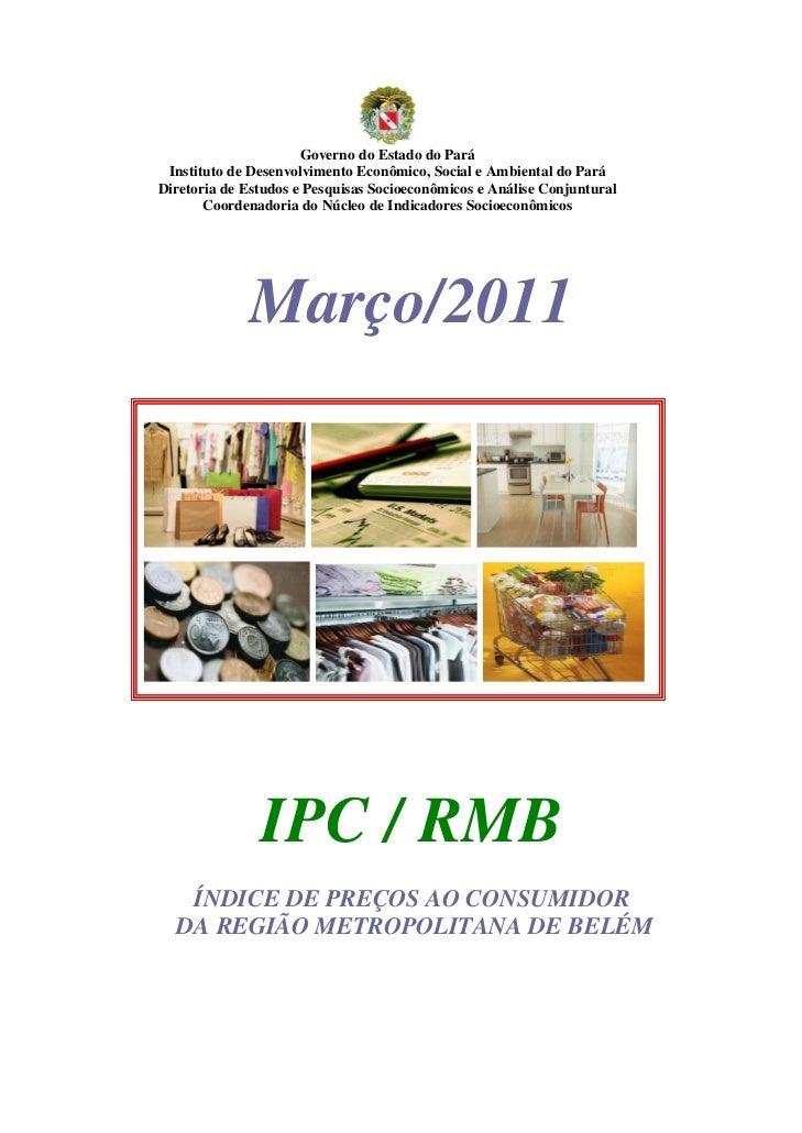 Governo do Estado do Pará Instituto de Desenvolvimento Econômico, Social e Ambiental do ParáDiretoria de Estudos e Pesquis...