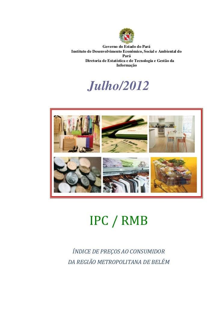Governo do Estado do Pará Instituto de Desenvolvimento Econômico, Social e Ambiental do                                Par...