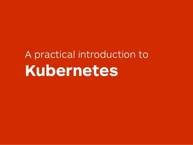 A practical introduction to