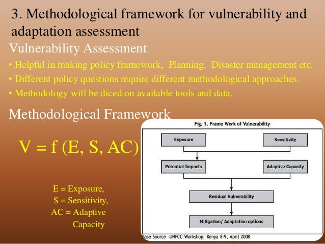 The Corner On Character Climate Changers 3: Methodological Framework For Assessing Vulnerability To