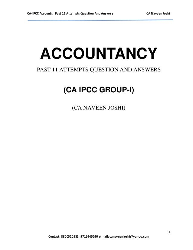 Ipcc group 1 accounting q&a