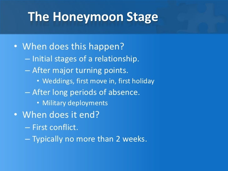 Honeymoon phase of relationship