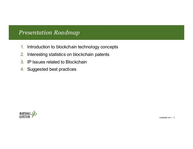 IP Considerations for Blockchain Technology Slide 2