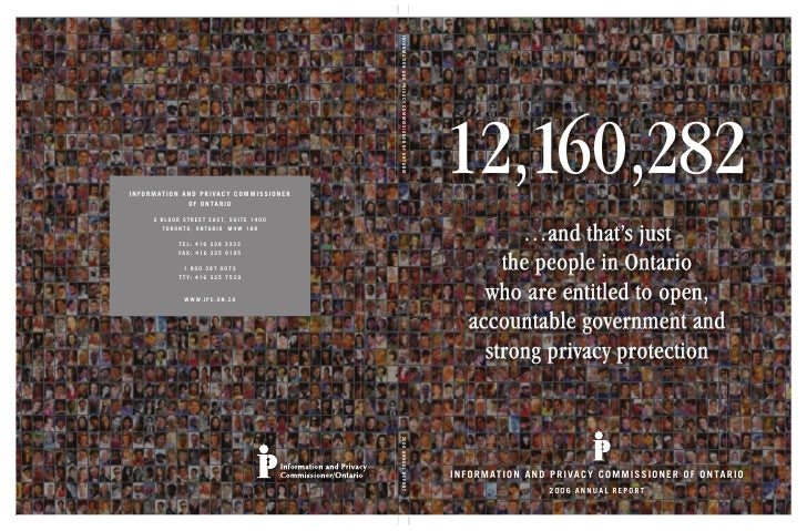 12,160,282           …and that's just         the people in Ontario       who are entitled to open,     accountable govern...