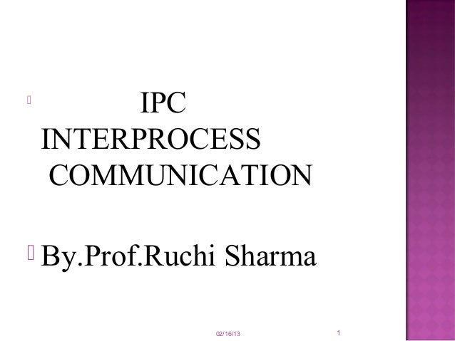 case study interprocess communication in unix ppt