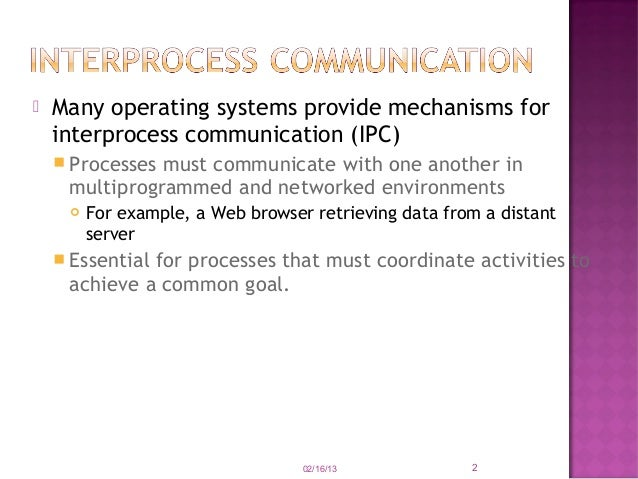 case study interprocess communication in unix ppt