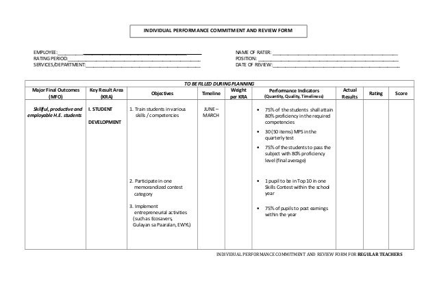 personnel review template