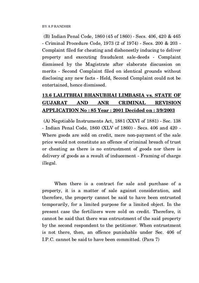 indian penal code 406