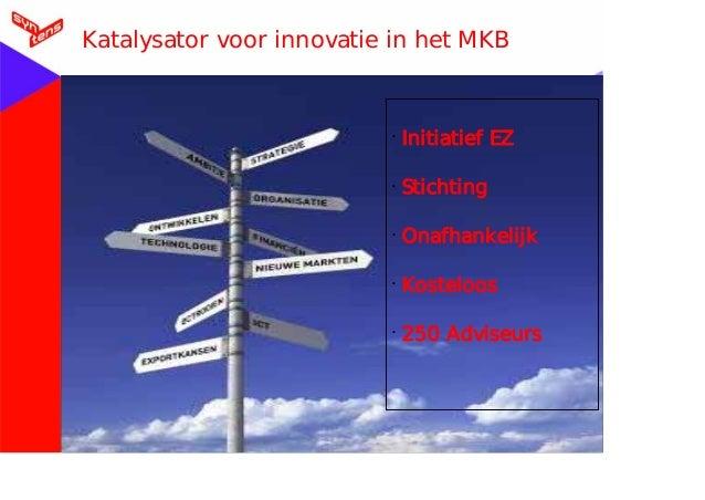 Voettekst 30-09-10 Katalysator voor innovatie in het MKB • Initiatief EZ • Stichting • Onafhankelijk • Kosteloos • 250 Adv...