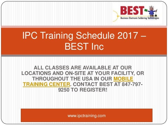 IPC Training and Solder Certification Courses