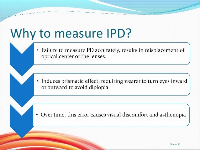 Measuring interpupillary distance Slide 3