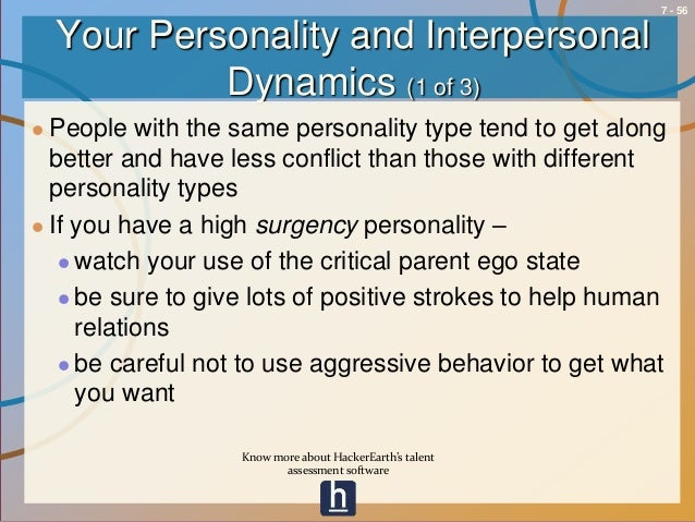how aggressive personality types deals with interpersonal conflict